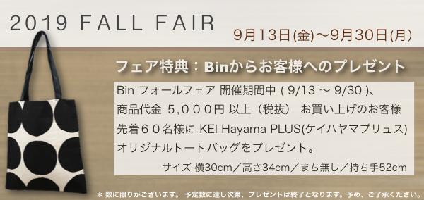 Bin fair 2019 autumn